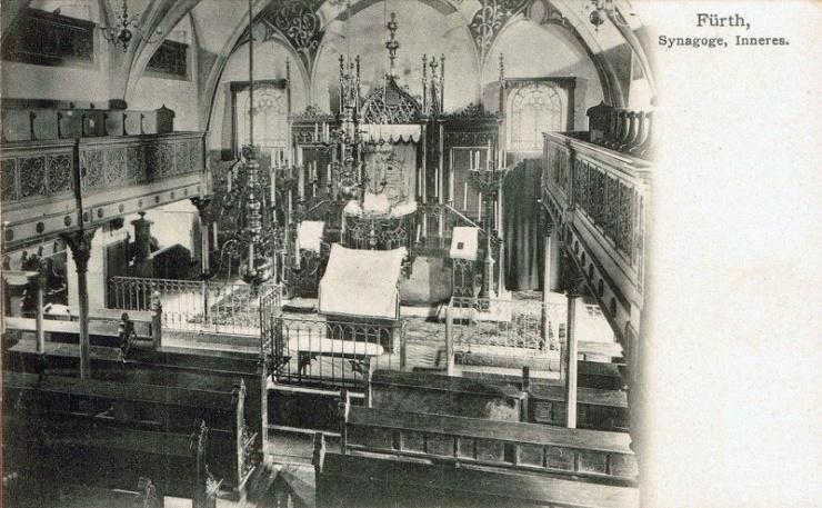 Innenansicht Synagoge 1910