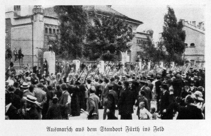 Ausmarsch 21. bayerisches Infanterieregiment 1914