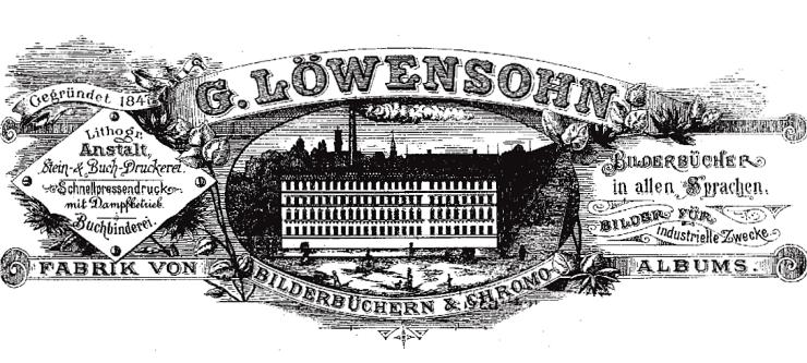Briefkopf Bilderbücherfabrik Löwensohn