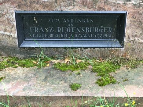 Inschrift Franz Regensburger