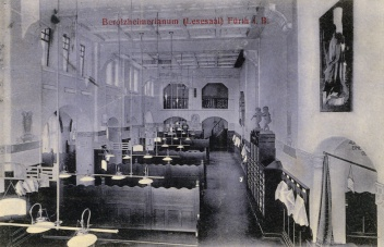 Lesesaal des Berolzheimerianums 1914