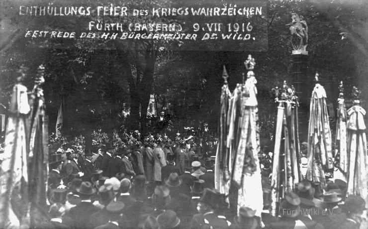 Nagelsäule Einweihung 1916