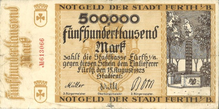 Notgeldschein Nagelsäule 1923