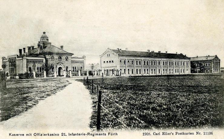 Postkarte Infanteriekaserne 1908