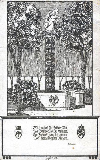 Postkarte Nagelsäule 1916