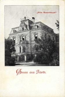 Postkarte der Villa Rosenhaupt