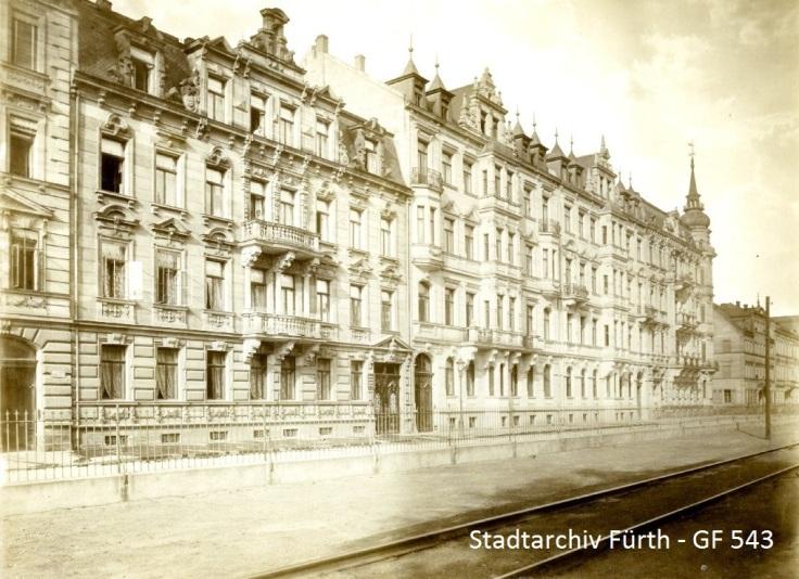 Königswarterstraße 52 bis 56 um 1900 (Stadtarchiv Fürth - GF 543)