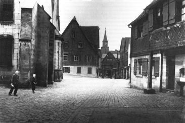 Synagogenplatz um 1920