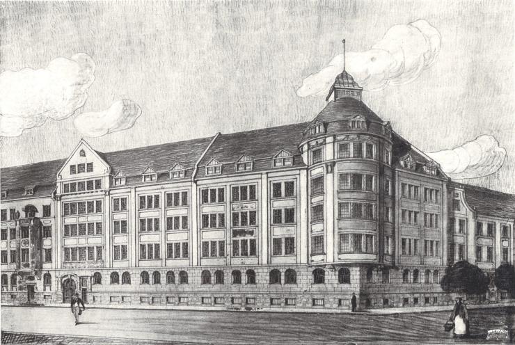 Frabikgebäude Spielefabrik L. Kleefeld Co. Nürnberger Str. 129