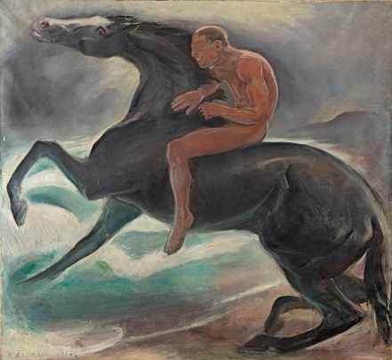 """Gemälde """"Reiter am Meer"""" von Benno Berneis 1913"""