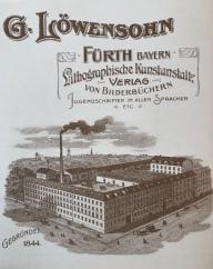 Briefkopf mit dem neuen Fabrikanlagen des Verlags G. Löwensohn